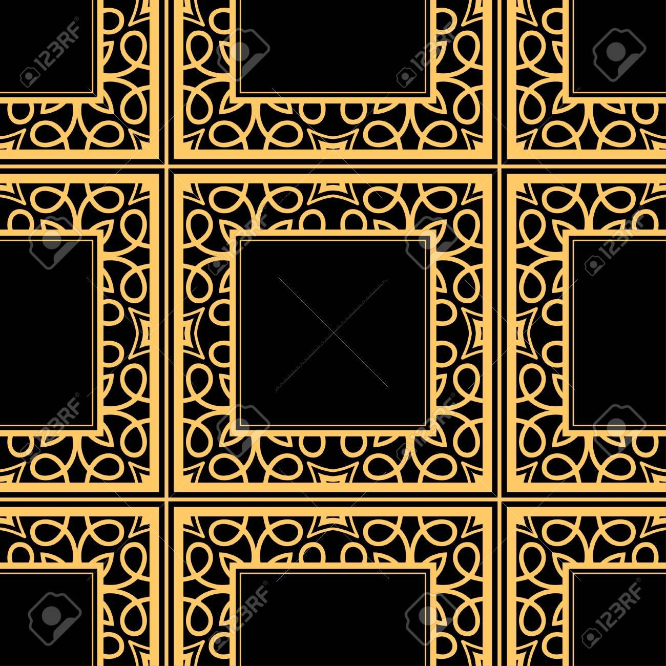 Vintage Golden Ornate Seamless Retro Pattern Modern Art Deco