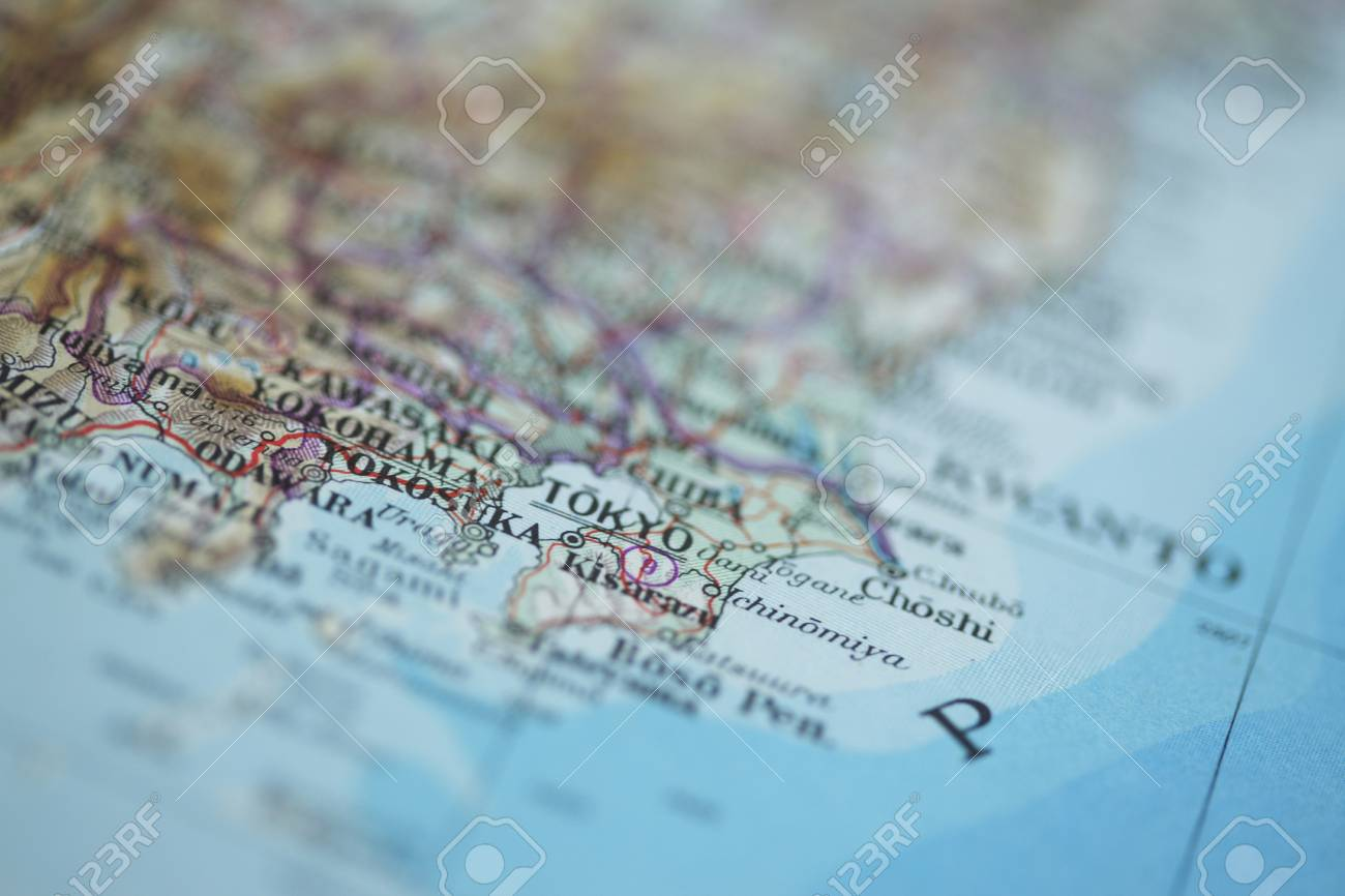 Close up shot of the Japanese map. Stock Photo - 6804663