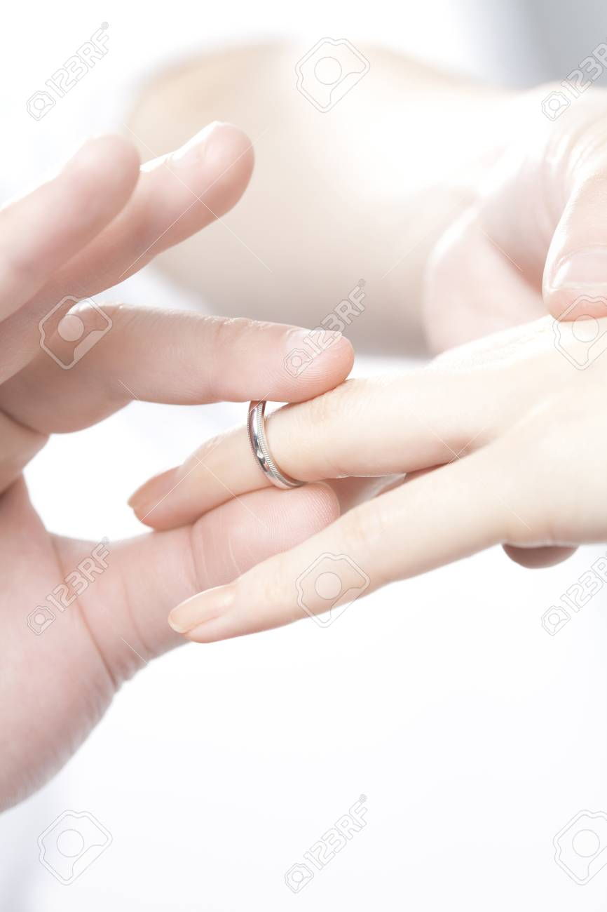 Men And Women Wear Rings Stock Photo, Picture And Royalty Free Image ...
