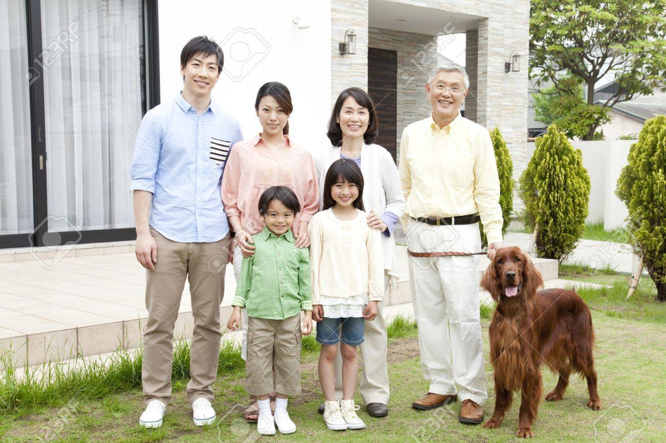 Of large families smile - 51157185