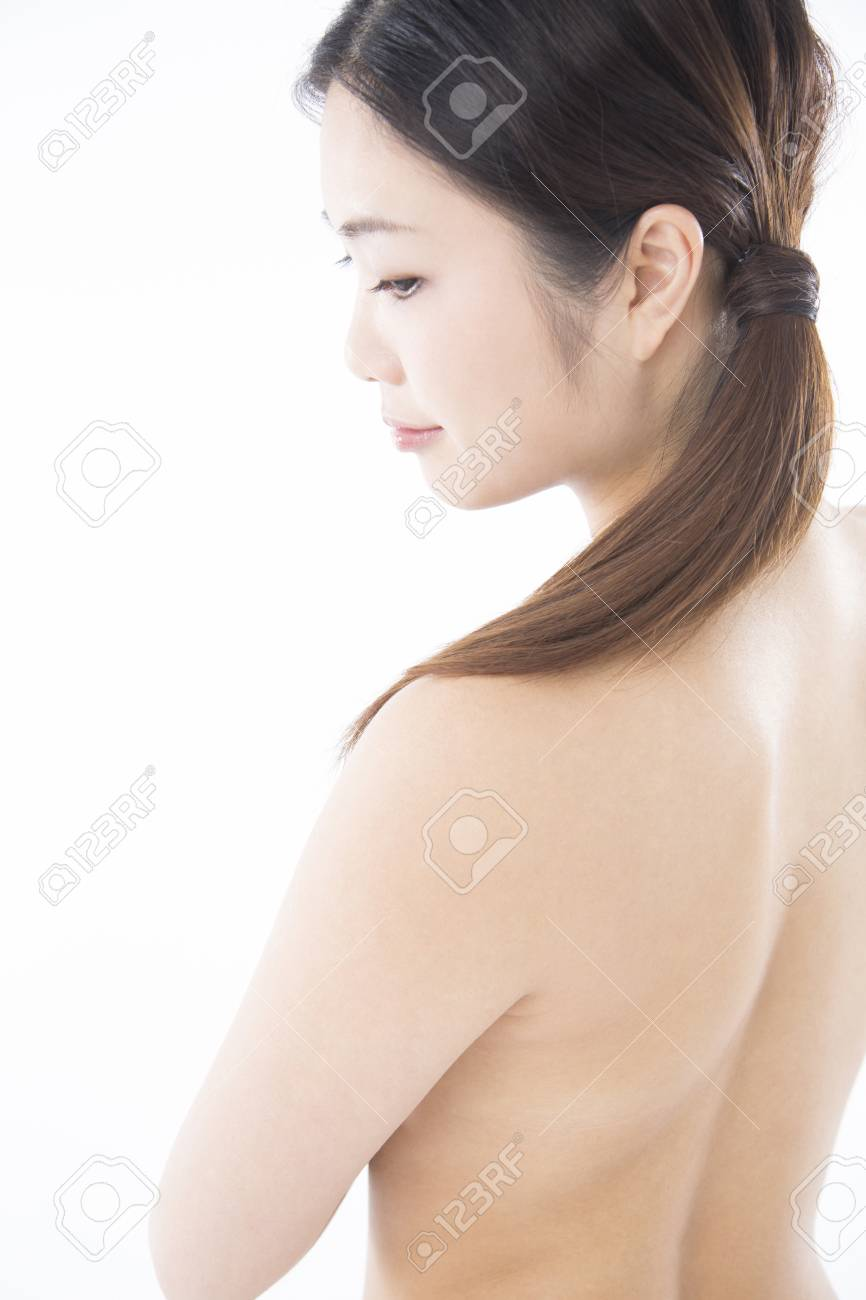 nude woman profile stock photo, picture and royalty free image