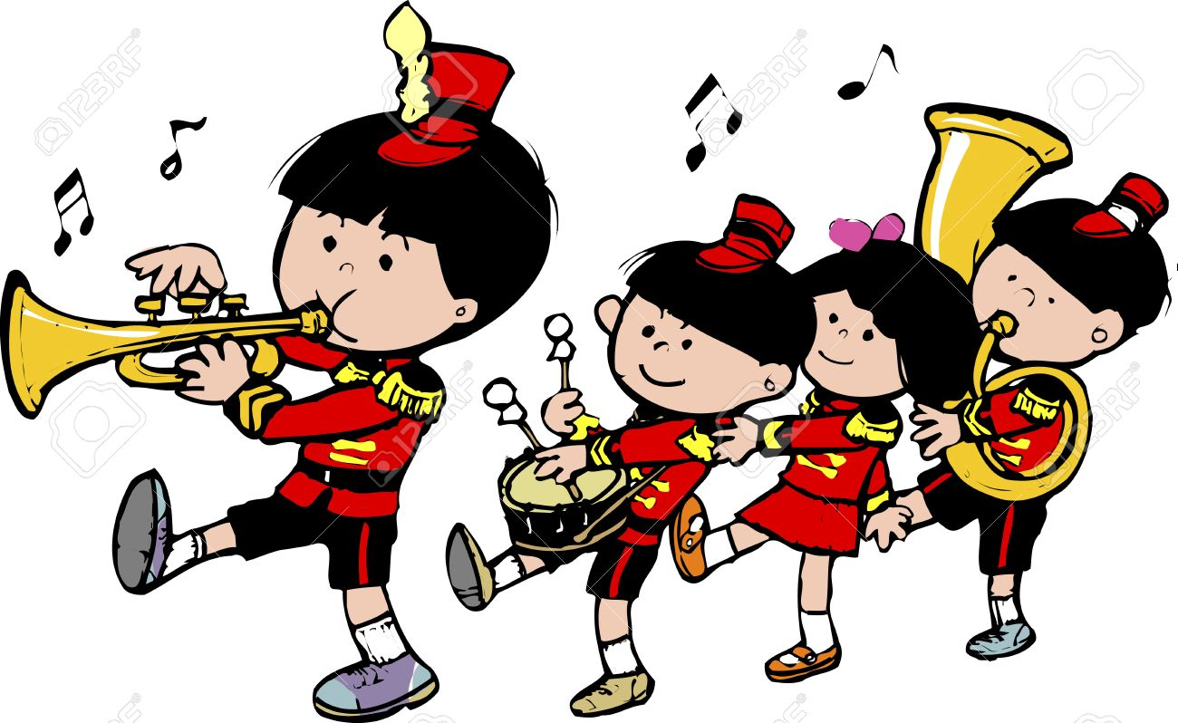 marching band stock photo picture and royalty free image image rh 123rf com marching clipart black and white marching clipart gif