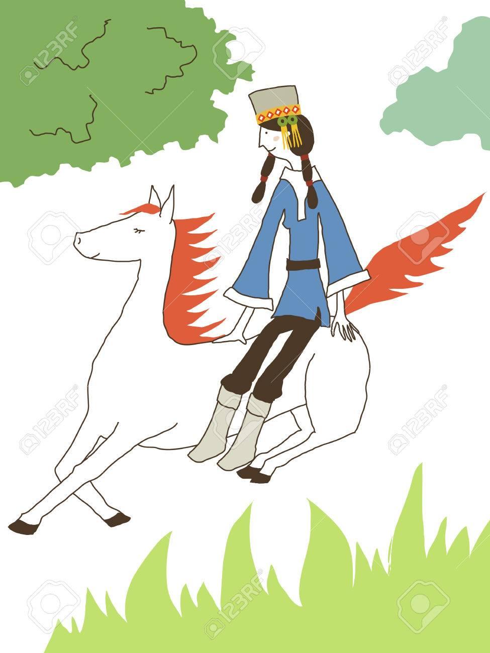 の 白い 馬 スーホ