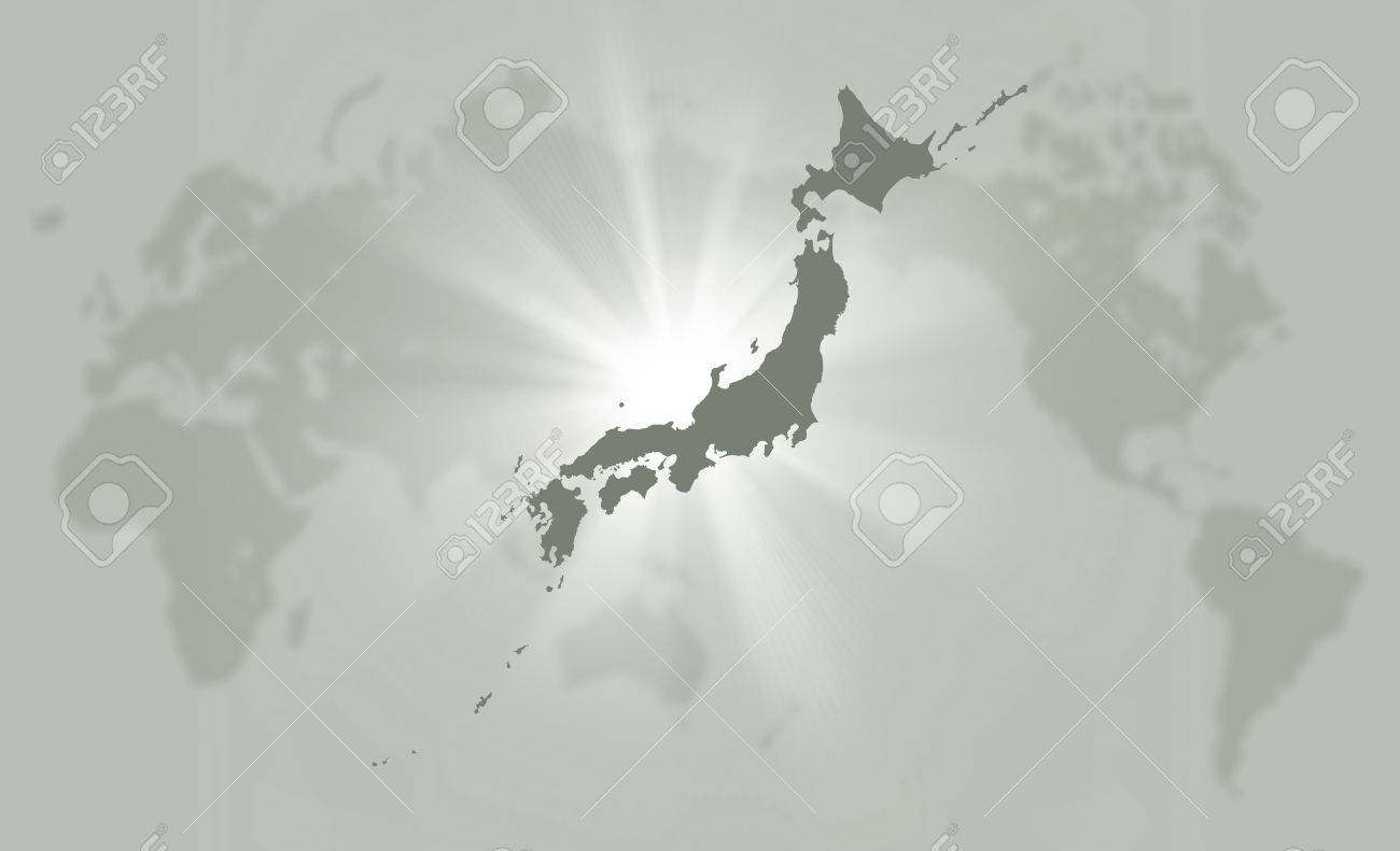 Japan map Standard-Bild - 49789004