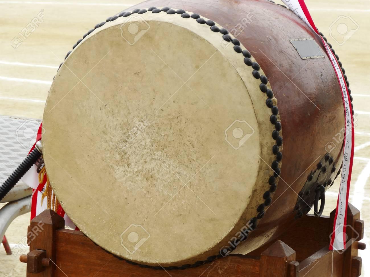 Cheer drum of athletic meet of school