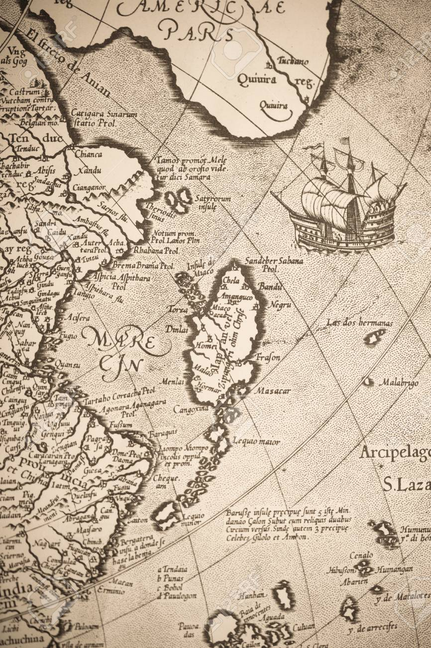 Old world map japan stock photo picture and royalty free image old world map japan stock photo 43016149 gumiabroncs Images