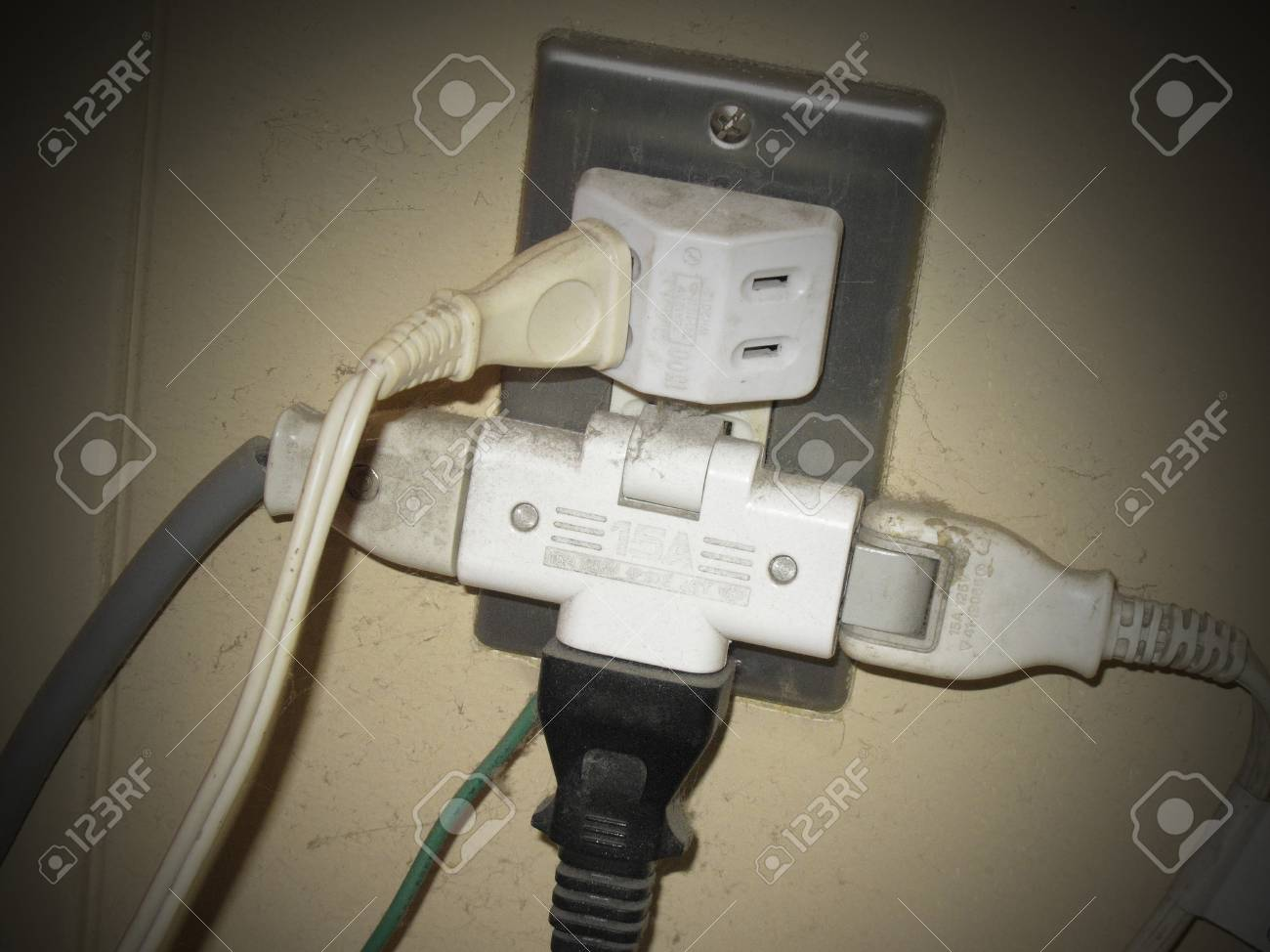 Dangerous Kite Foot Wiring Stock Photo Picture And Royalty Free Electrical 47137068