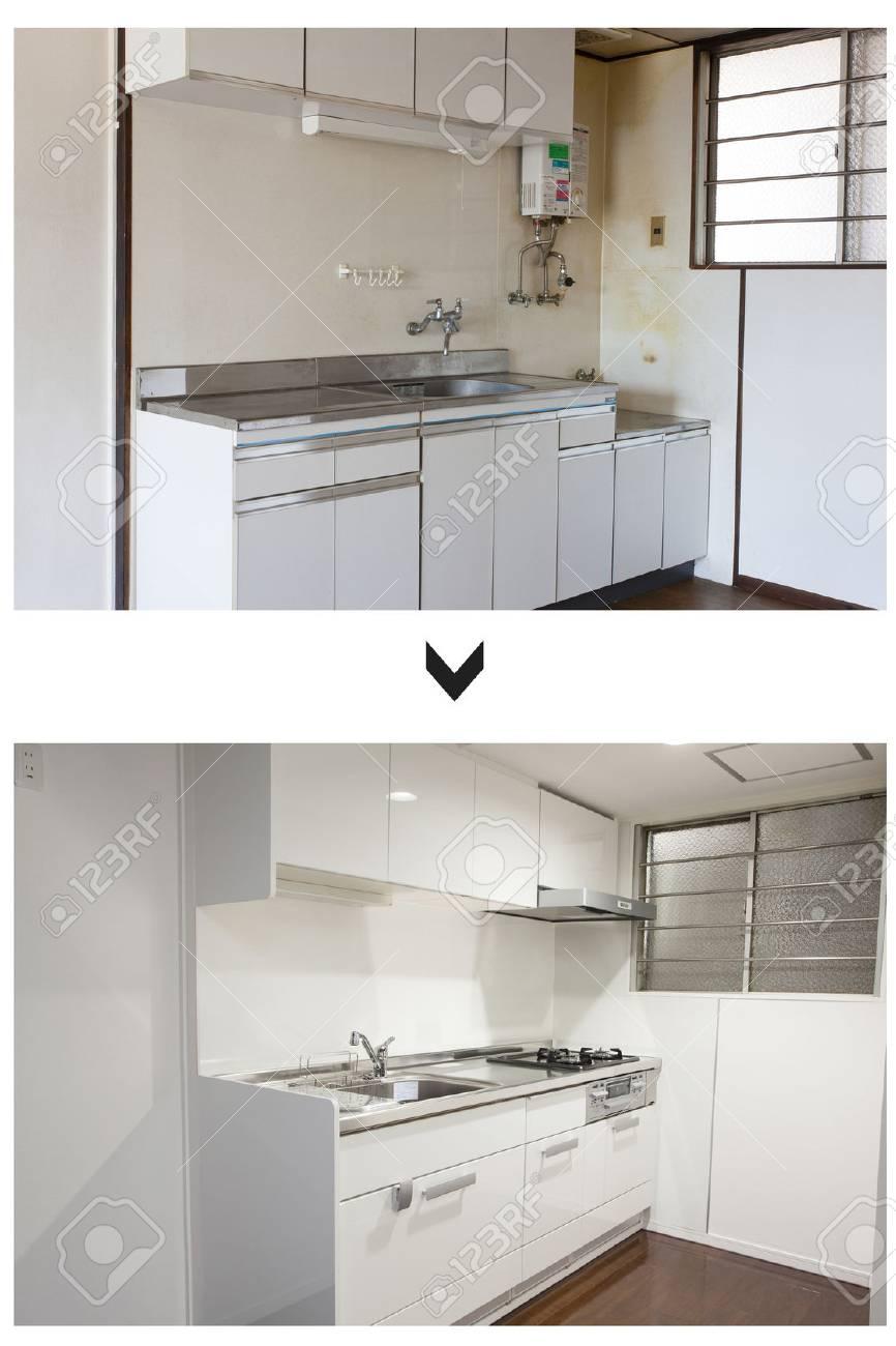 Tolle Küche Renoviert Auf Einem Haushalt Vor Und Nach Ideen - Küchen ...