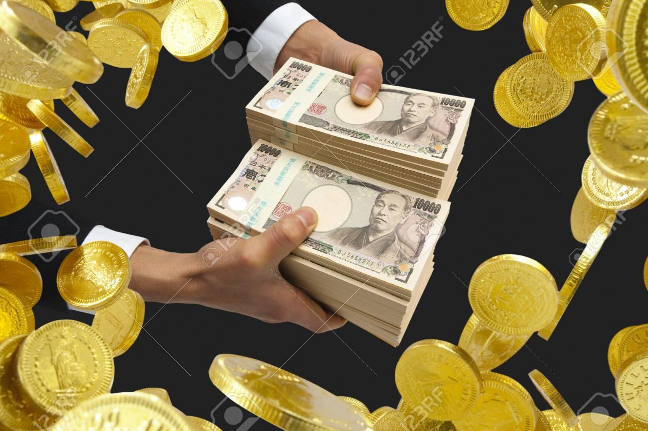 Businessmen get money - 50402887