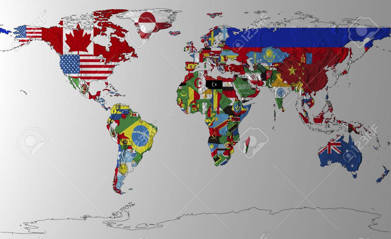 World map of flags stock photo picture and royalty free image stock photo world map of flags gumiabroncs Choice Image