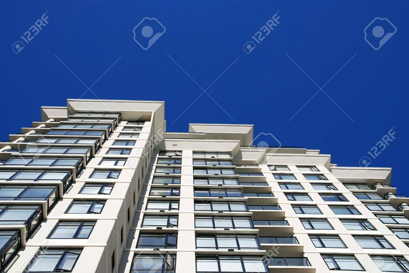 Detail Of Modern Apartment Building In Vancouver, Canada Stock Photo    5612081