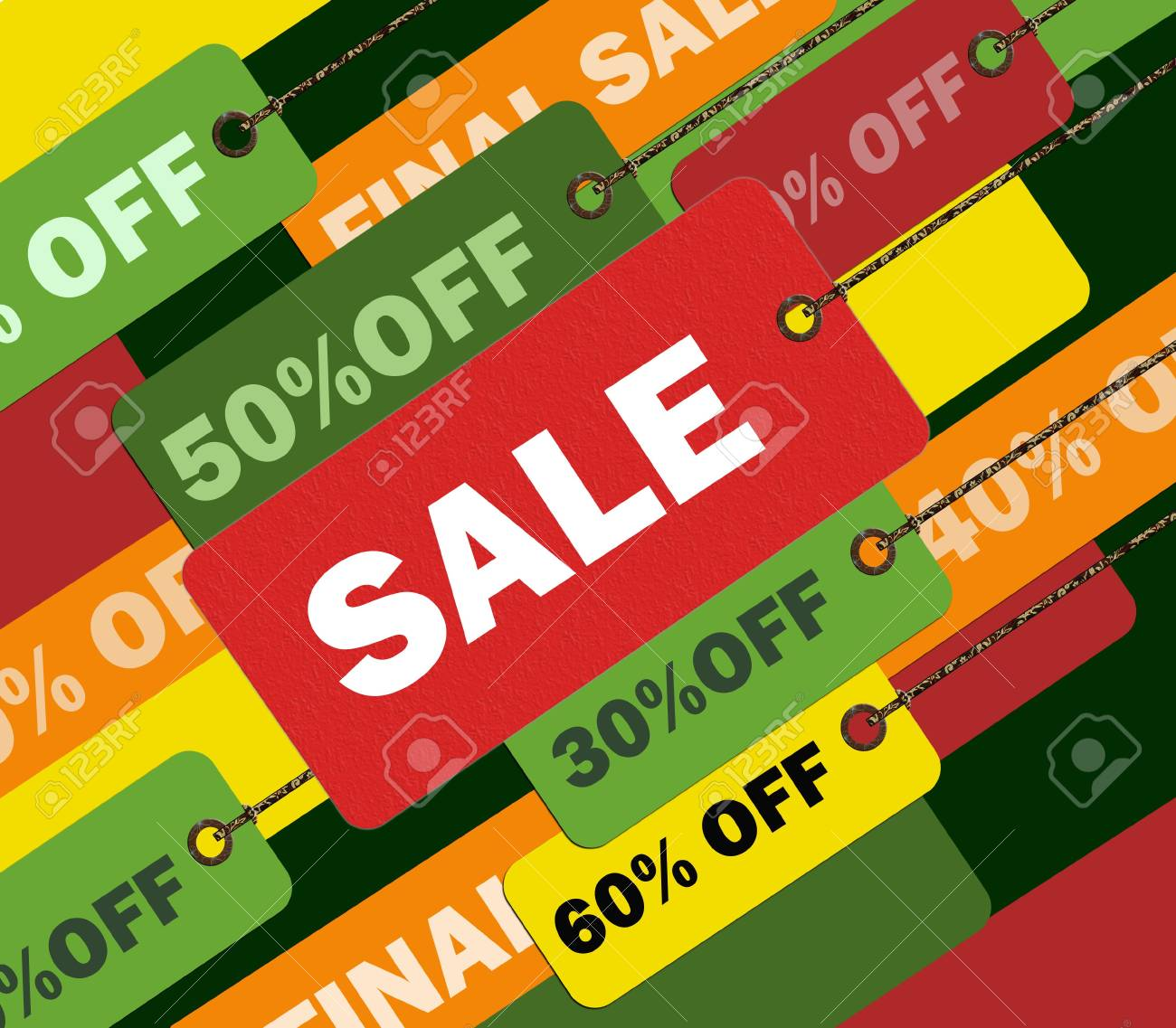 Colorful shopping concept illustration image you can use it for any sale time or seasons Stock Photo - 5647075