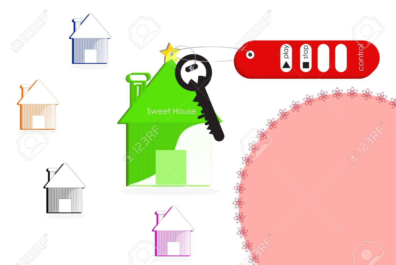 Smart home with remote control Stock Photo - 6754805