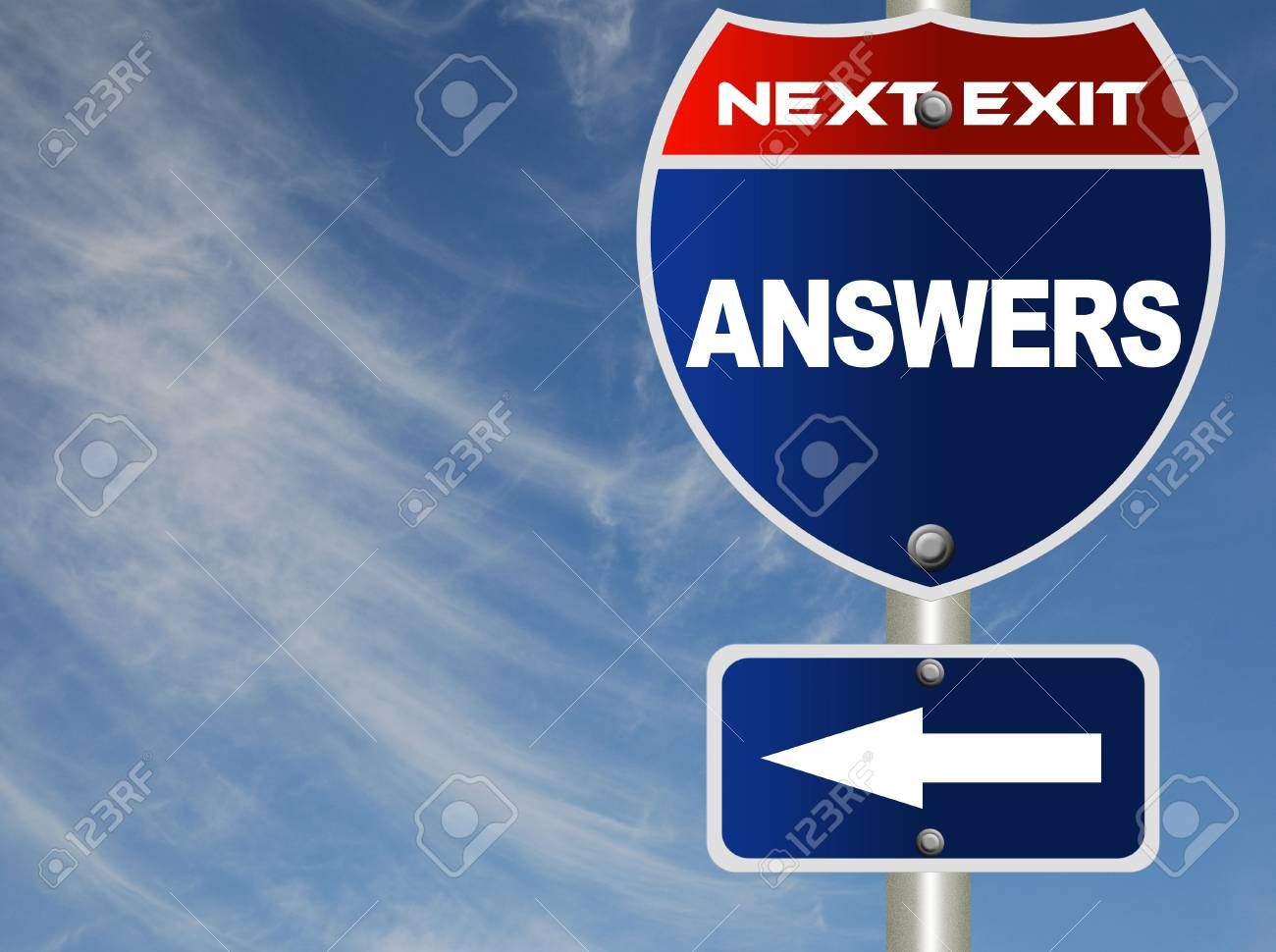 Answers road sign Stock Photo - 7543922