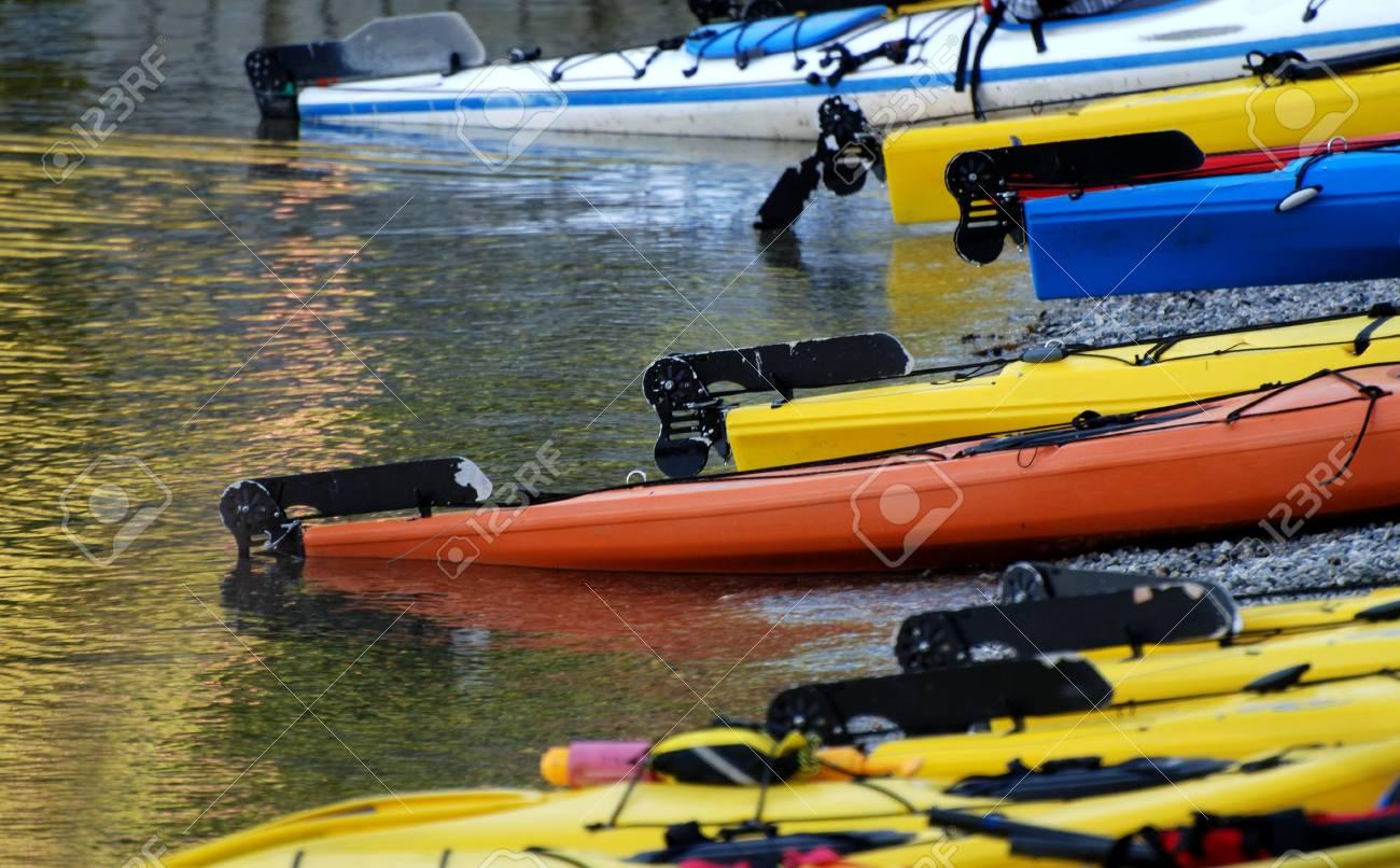 Kayaks on the beach Stock Photo - 8005035