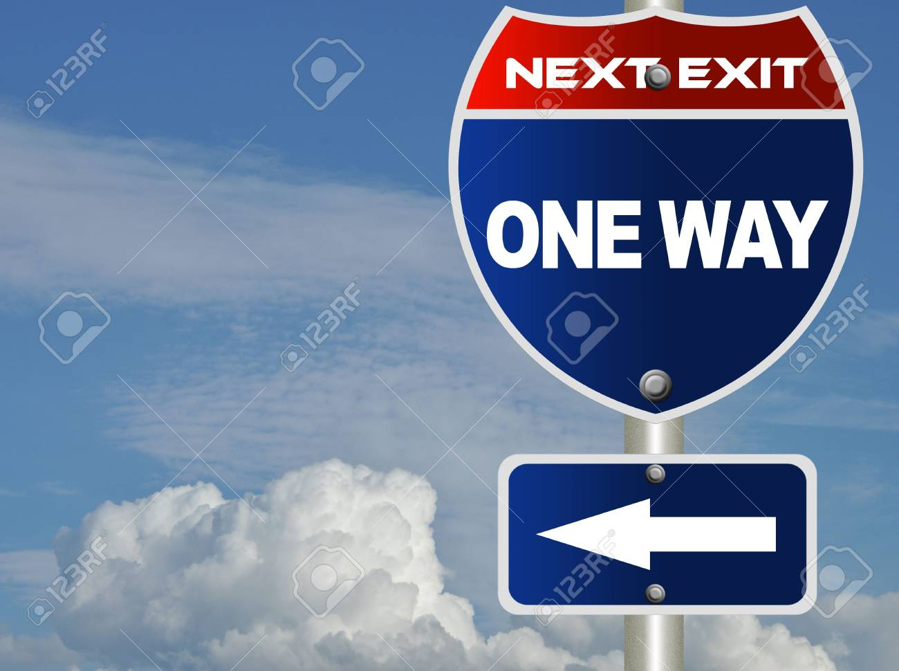 One way road sign Stock Photo - 8184768