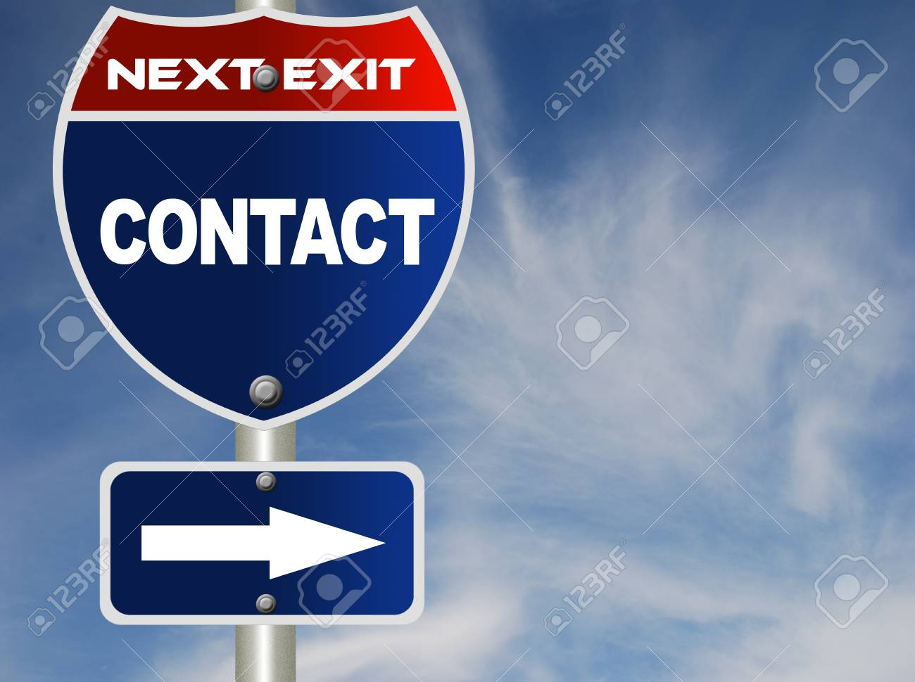Contact road sign Stock Photo - 8486149