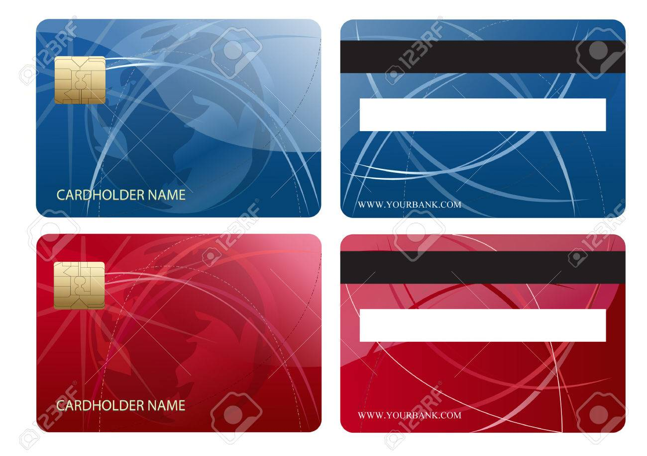 Abstract Chip Business Credit Card Royalty Free Cliparts, Vectors ...