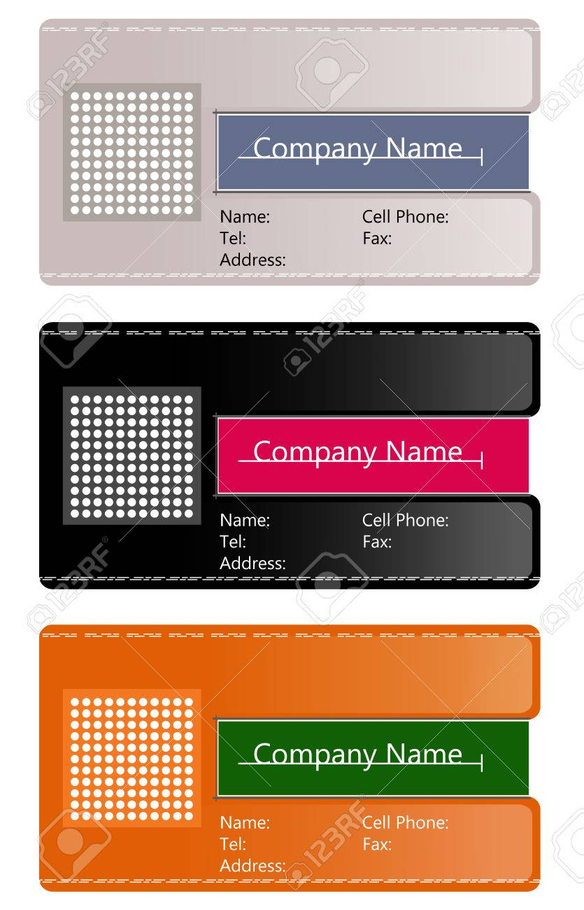 Abstract business card Stock Vector - 8978040