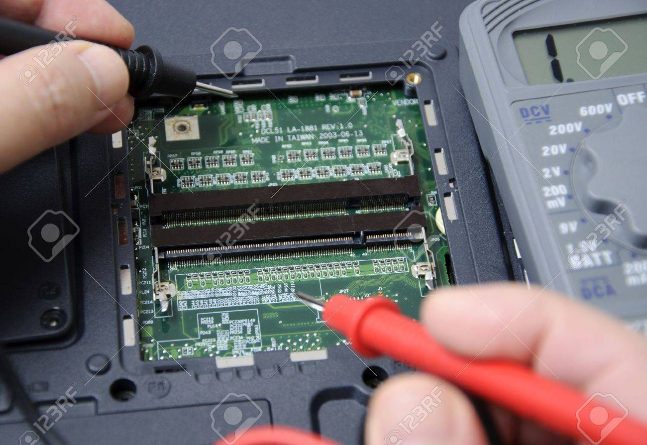 Abstract photo of laptop repair Stock Photo - 10989032