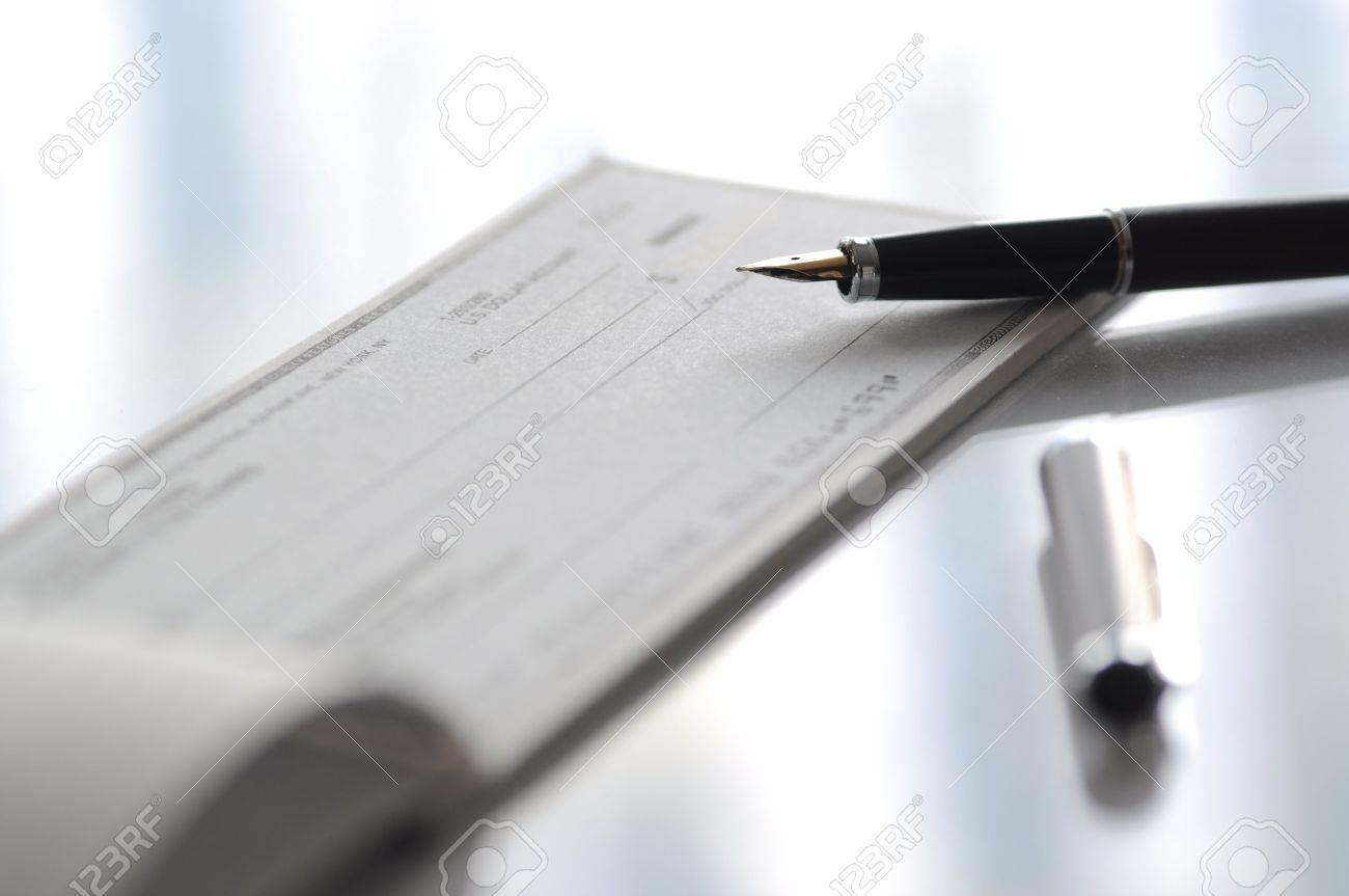 Prepare Writing A Check Stock Photo 12900037 Prepare Writing A Check Stock  Photo, Picture And