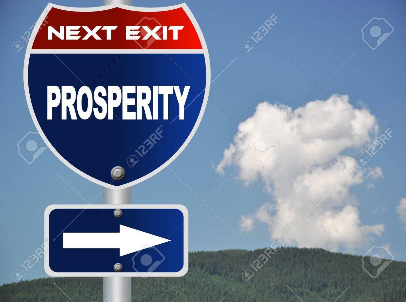 Prosperity road sign - 14876308