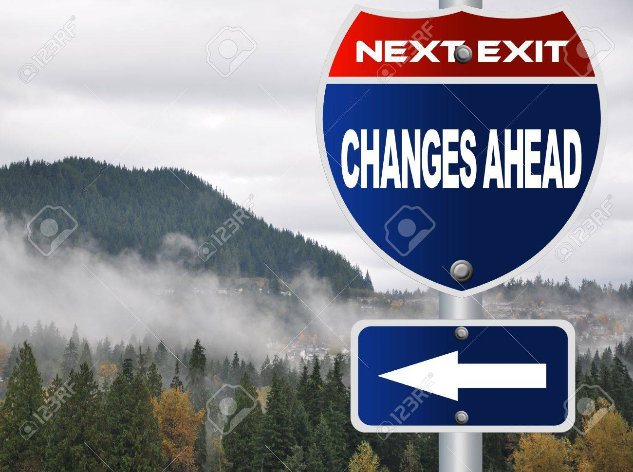 Changes ahead road sign Stock Photo - 16278286