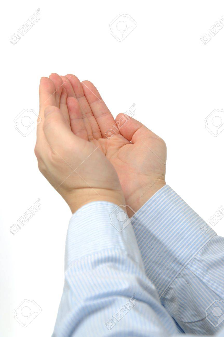 Macro hand gesture; asking concept Stock Photo - 19363166