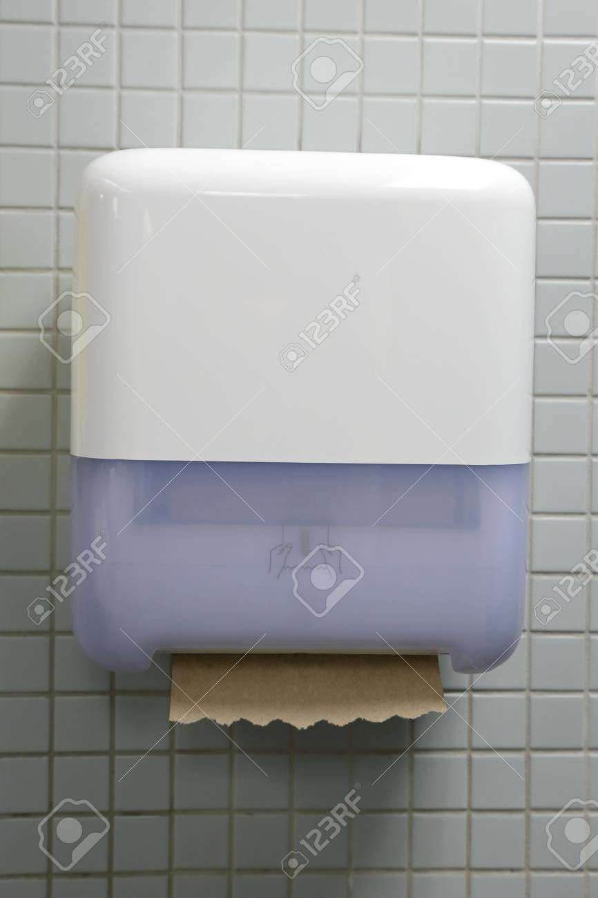 Paper towel on wall Stock Photo - 20839465