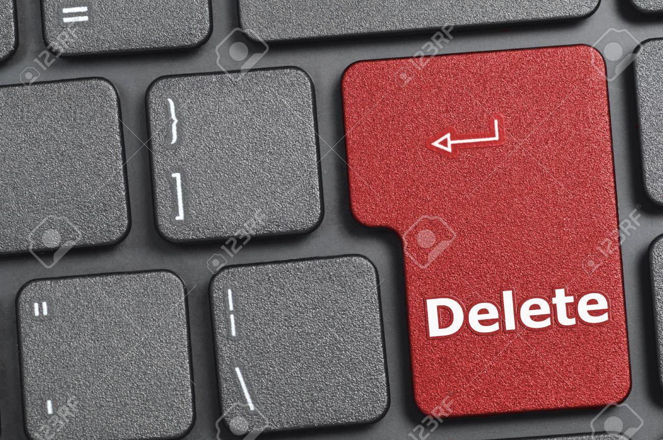Red Delete Key