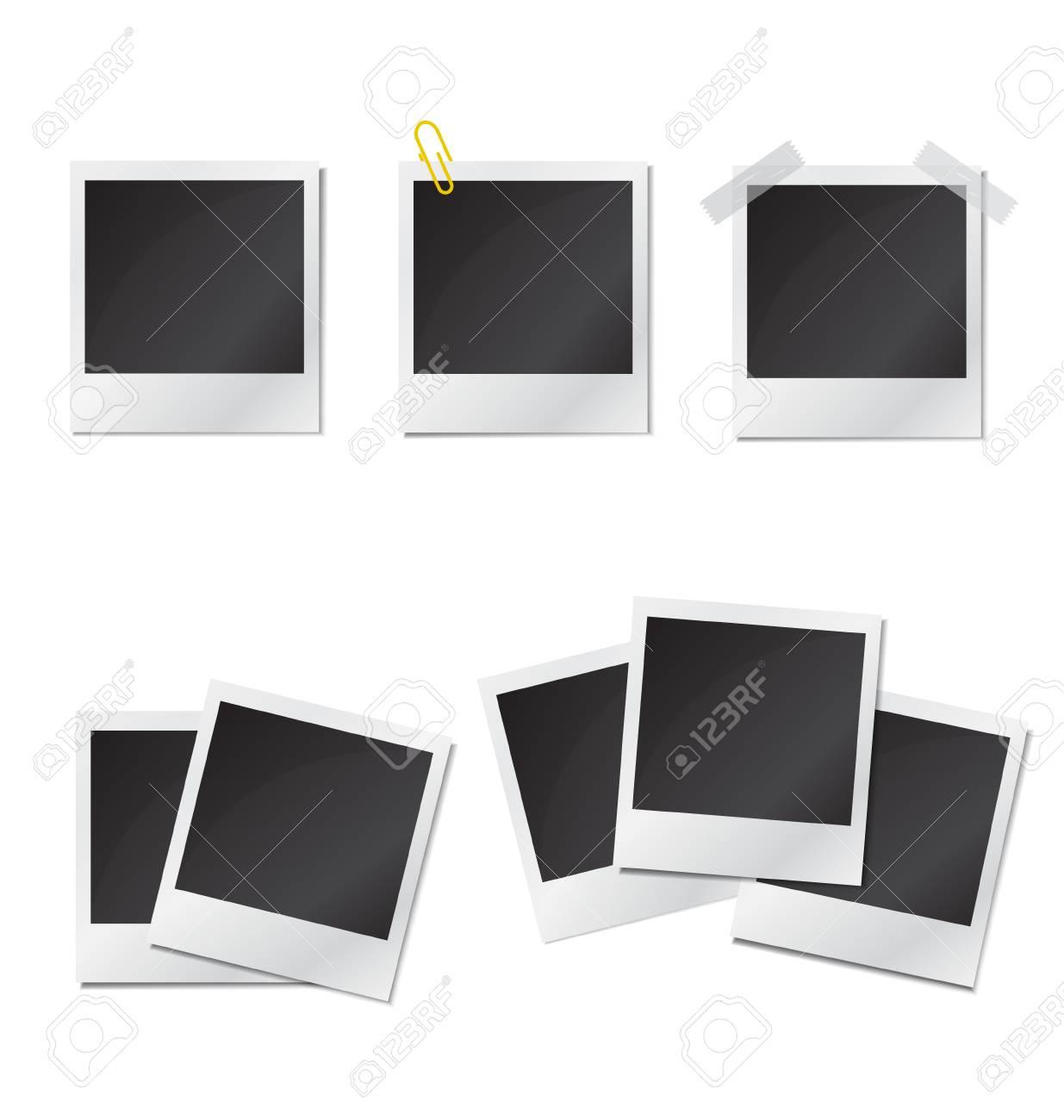 Set Polaroid Bilderrahmen Auf Weißem Background.Vector. Lizenzfrei ...