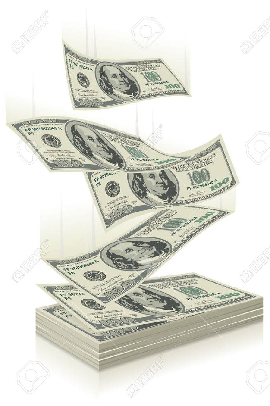 flying dollar bills, the concept of success - 54353526