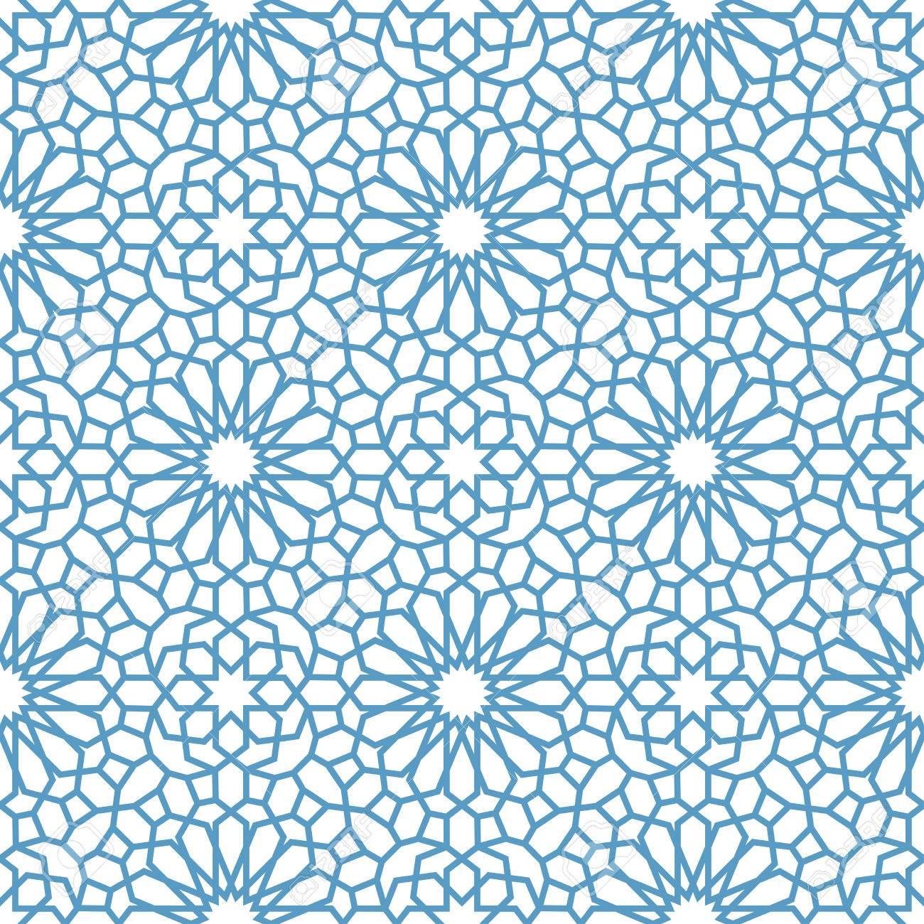 Arabic seamless pattern. Pattern fills. Oriental, arabic style. Mosaic seamless patterns. Arabic ornaments. Vector illustration. - 57465474