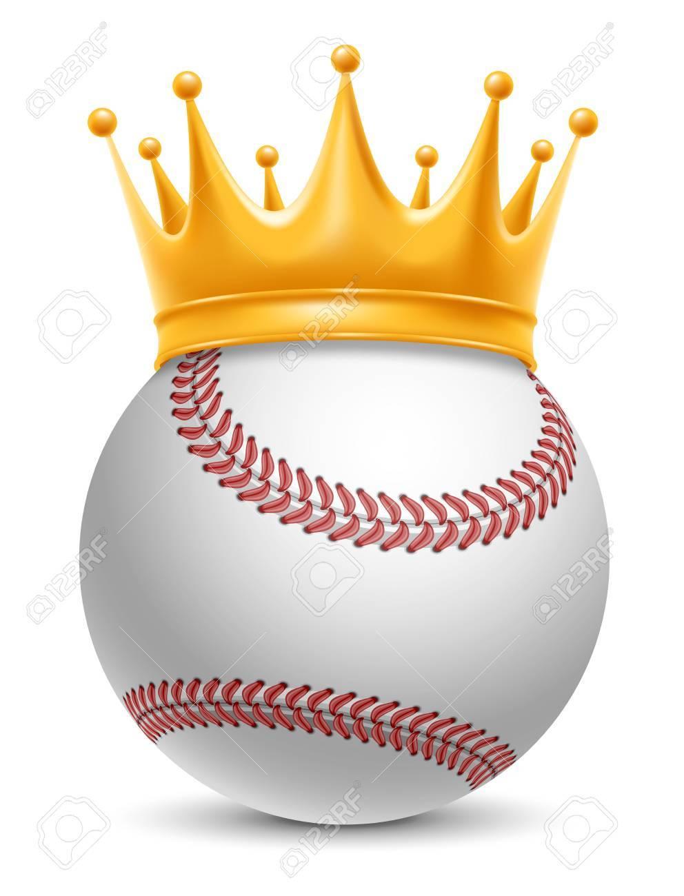 Concepto de éxito en el deporte de béisbol. Béisbol - rey del deporte.  Realista Stock Vector Illustration. Aislado en el fondo blanco. 7be0fff406ce9