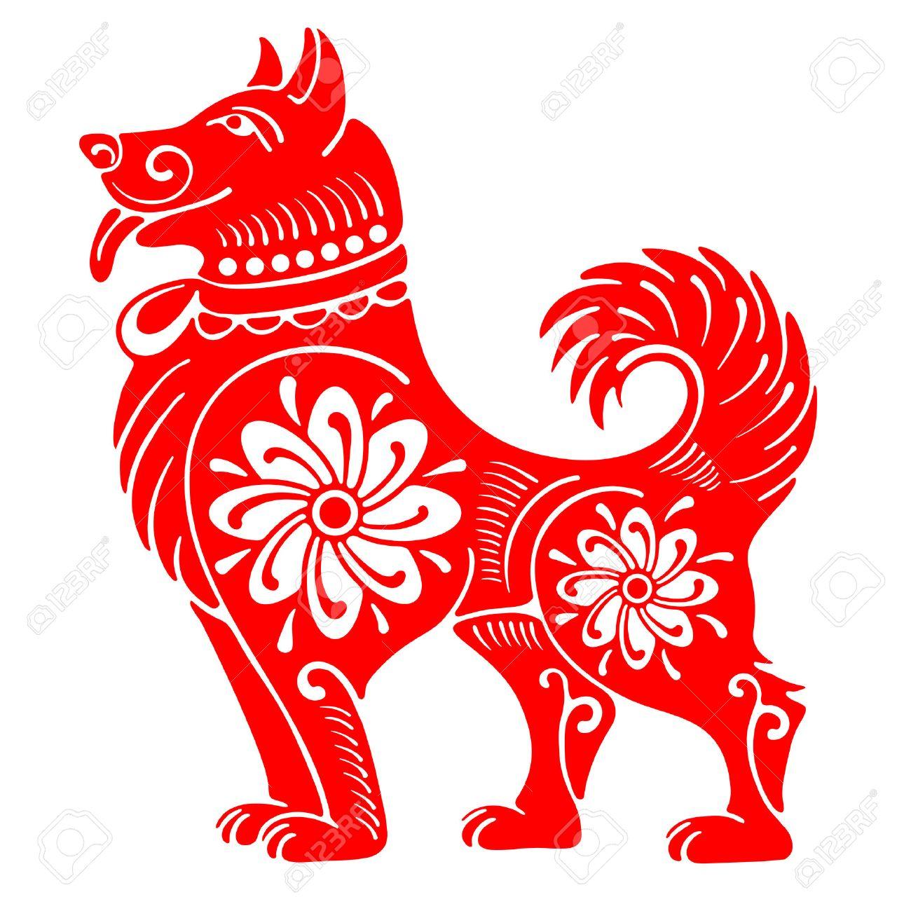 Dog chinese zodiac symbol of 2018 year isolated on white dog chinese zodiac symbol of 2018 year isolated on white background vector illustration buycottarizona