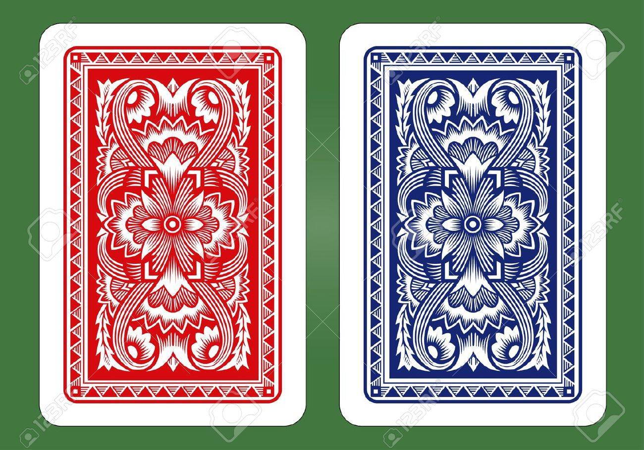Playing Card Back Designs - 30824733