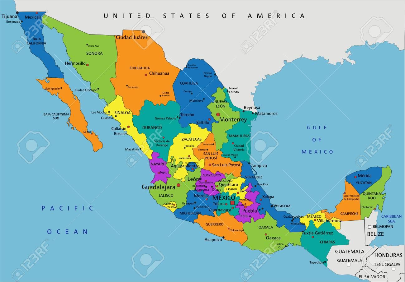 Colorful Mexico political map with clearly labeled, separated.. on chiapas mexico, nayarit mexico, map of new york, map of the united states, san carlos mexico, puebla mexico, oaxaca mexico, huatulco mexico, map of germany, map of europe, map of virginia, map of ohio, map of florida, map of south america, map of canada, taxco mexico, map of us, mazatlan mexico, cities in mexico, map of africa, map of the world, map of usa, map of georgia, map of california, manzanillo mexico, guadalajara mexico, detailed map mexico, map of italy, jalisco mexico, michoacan mexico, map of china, aguascalientes mexico, queretaro mexico, sinaloa mexico, leon mexico, punta mita mexico, map of texas, tulum mexico, map of north carolina,