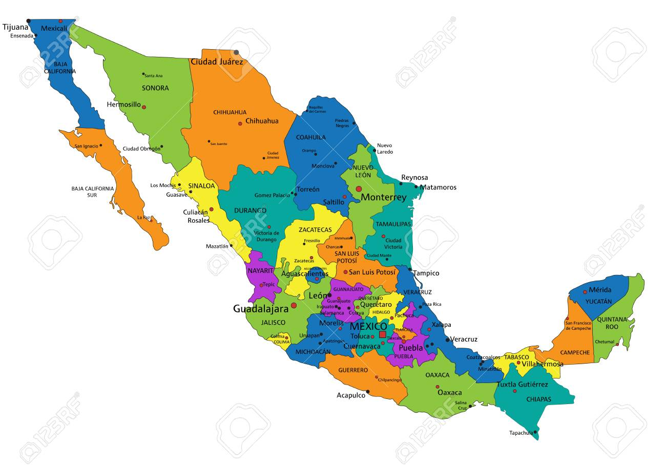Colorful Mexico political map with clearly labeled, separated.. on czech republic map, sri lanka map, peru map, panama map, africa map, florida map, texas map, spain map, australia map, brazil map, thailand map, greece map, native american map, cuba map, poland map, belgium map, europe map, canada map, carribean map, dominican republic map, south africa map, canadian provinces map, portugal map, california map, costa rica map, argentina map, china map, egypt map, cabo san lucas map, france map, mexican states map, germany map, kenya map, italy map, india map,