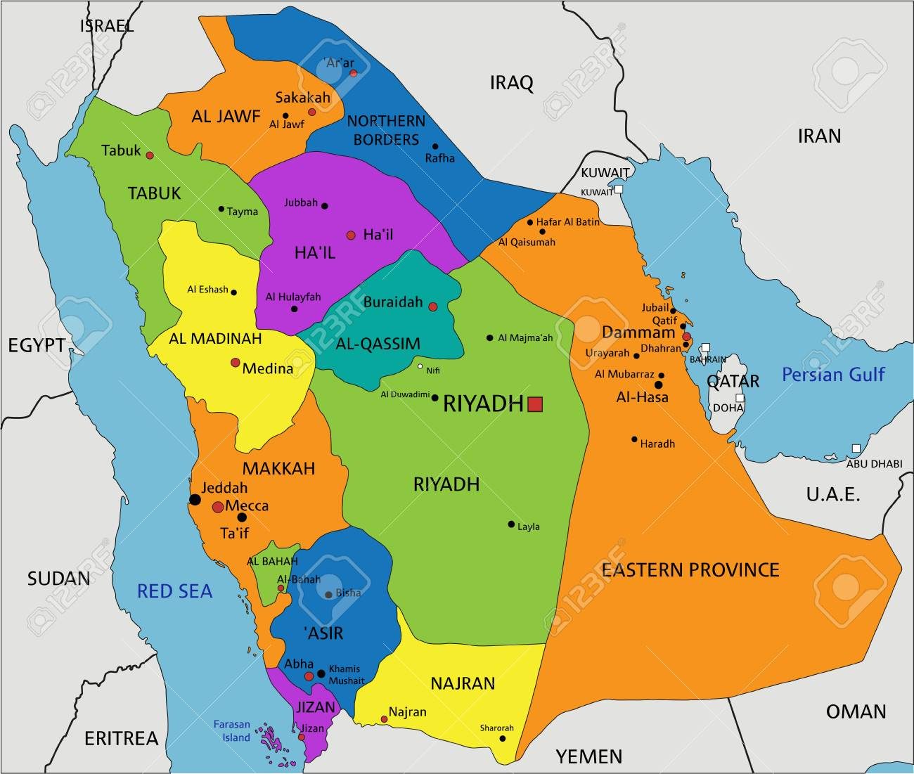 Map In Saudi Arabia on united arab emirates map, afghanistan map, algeria map, bahrain map, brazil map, kuwait map, iran map, oman map, russia map, india map, malaysia map, libya map, morocco map, great britain map, tanzania map, lebanon map, japan map, sudan map, jordan map, dubai map,