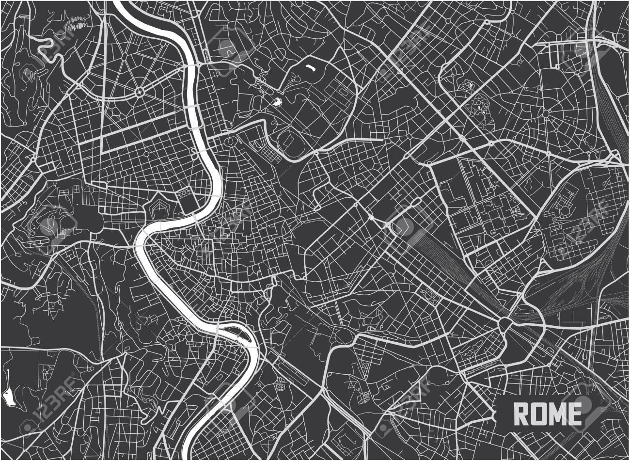 Minimalistic Rome city map poster design. - 122656864