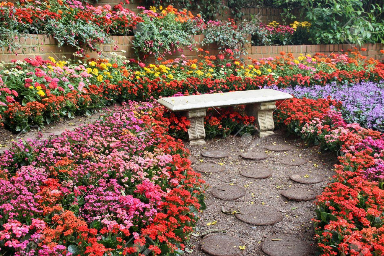 Beautiful colourful flower garden stock photo picture and royalty beautiful colourful flower garden stock photo 12550147 izmirmasajfo