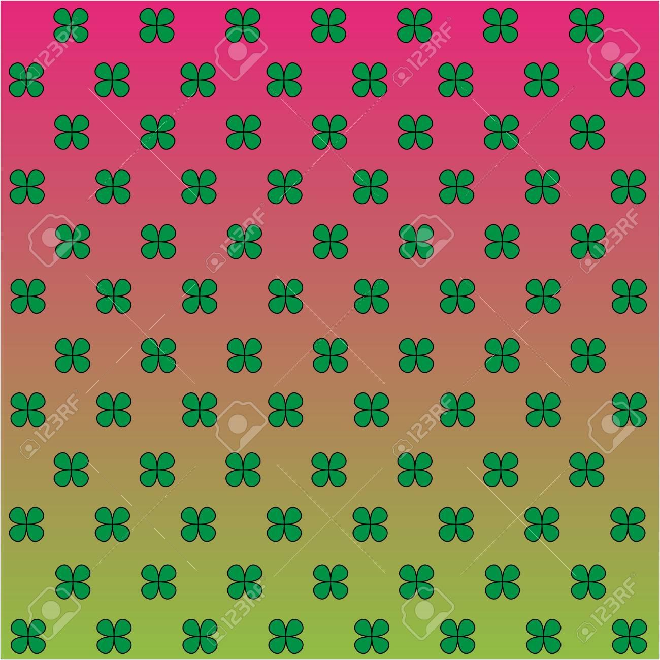 Four leaf clover illustration like background Stock Photo - 4625015