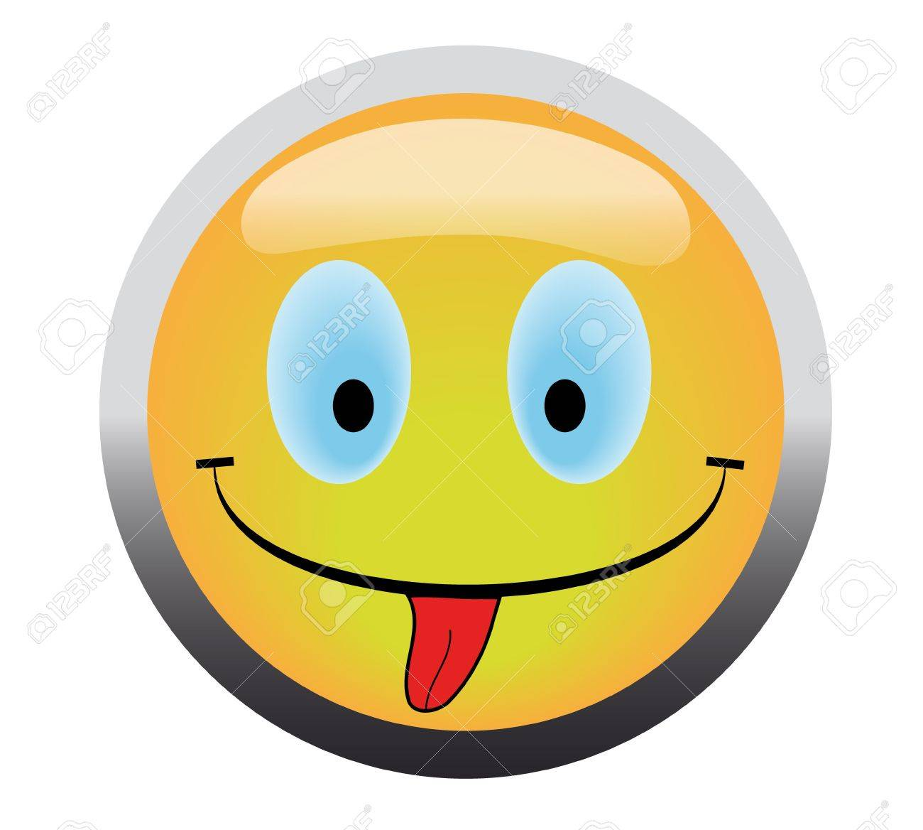 Happy smile button stick out tongue Stock Photo - 4624993
