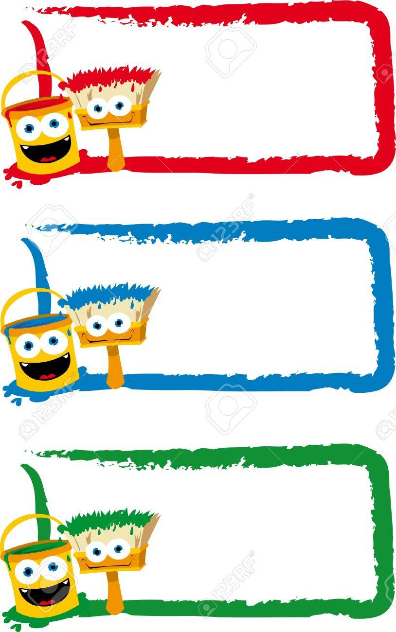 3 Funny Frames In Different Colours Royalty Free Cliparts, Vectors ...