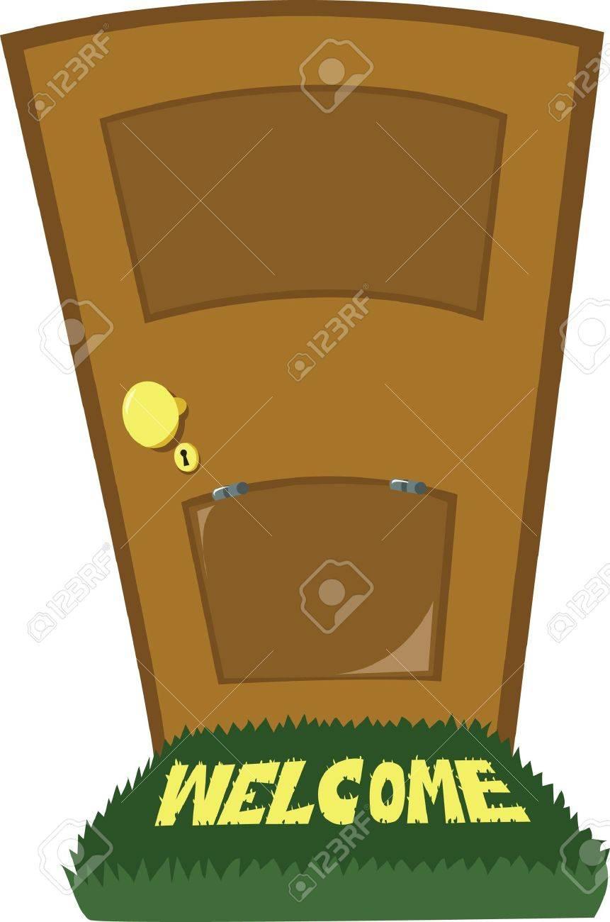 A close door and a door flap Stock Vector - 15606865
