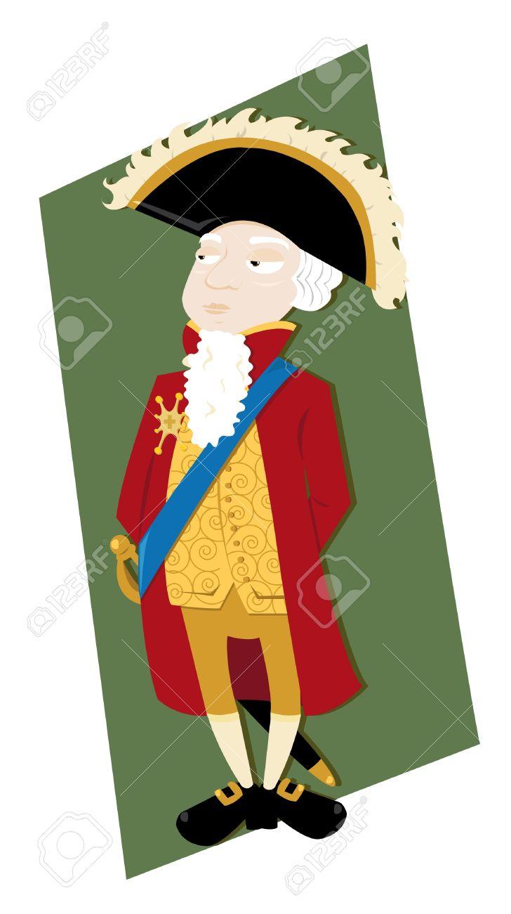 a vector cartoon representing a funny French noble Stock Vector - 21759898