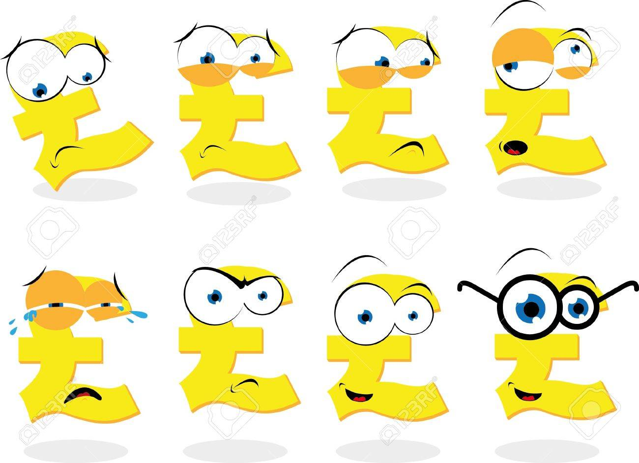 A vector cartoon representing a funny pound symbol in different a vector cartoon representing a funny pound symbol in different poses stock vector 21759940 biocorpaavc Images
