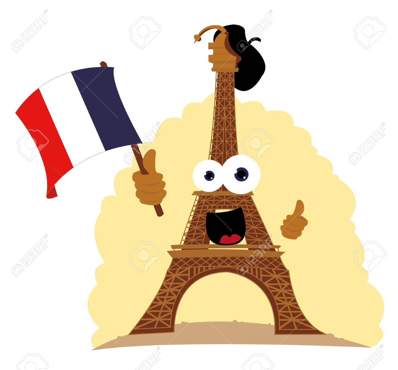 Funny Tour Eiffel Royalty Free Cliparts Vectors And Stock Illustration Image 21959584