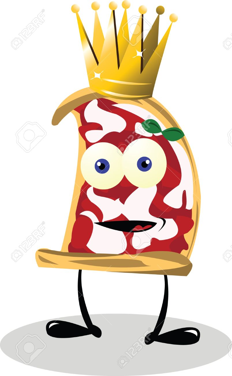 Funny Pizza King Stock Vector - 22095950