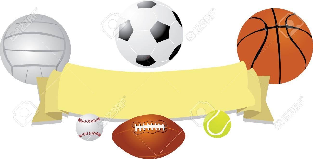 Balls Banner Stock Vector - 22095977